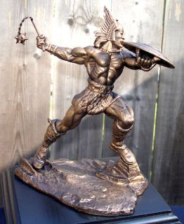 Frazetta Master Artists The Hun Faux Bronze Statue Black Base