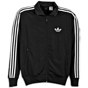 adidas Originals Firebird Full Zip Track Jacket   Mens   Black/White