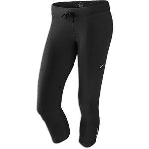 Nike Relay Capri   Womens   Running   Clothing   Black/Matte Silver