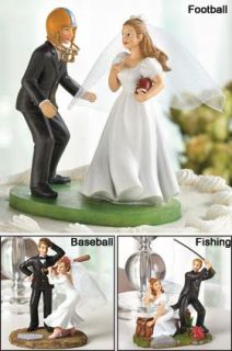 Humorous Wedding Sports Cake Topper Figurine Must See