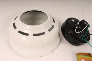 Hunter 52 inch White Low Profile III Fan for Parts or Repair