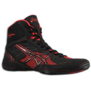 ASICS® Cael V5.0   Mens   Wrestling   Shoes   Black/Red
