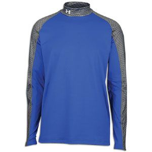 Under Armour Coldgear Competition Fitted Mock   Mens   Royal/Red