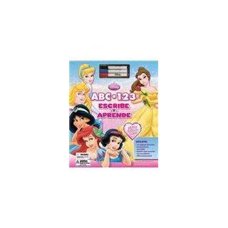 Princesas 123 ABC / Princess ABC 123 Write and Learn (Spanish Edition