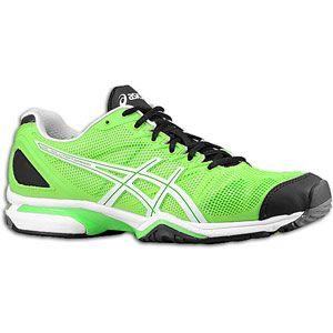 ASICS® Gel Solution Speed   Mens   Tennis   Shoes   Neon Green/White
