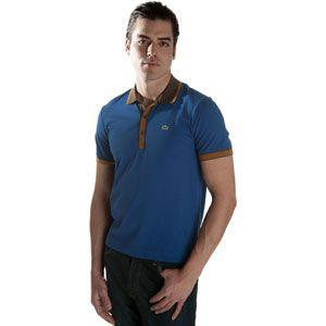 Lacoste Cotton/Linen Contrast Collar Polo   Mens   Casual   Clothing