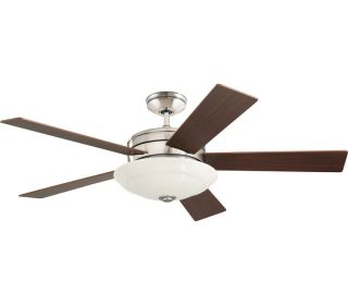 54 Marquette Brushed Steel Remote Control Ceiling Fan CF410WBS