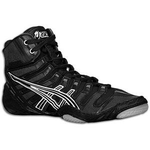 ASICS® Omniflex Pursuit   Mens   Wrestling   Shoes   Black/Silver