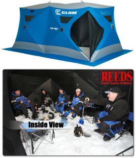 Clam Big Foot XL6000 6 8 Man Ice Fishing Shelter House 9131