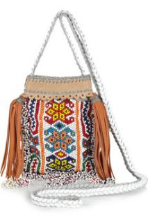 Paul & Joe Perlee handmade beaded cross body bag