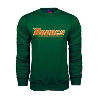 Broncs Champion Dark Green Fleece Crew Large, Basketball