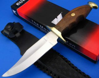 MOUNTAIN MAN Wood Handle Finger Groove Fixed Blade Bowie Hunting Knife