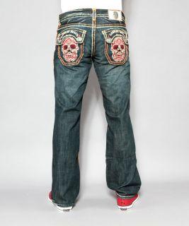 Mens Laguna Beach Jeans Huntington Beach Orange Stitch Boot Cut 34