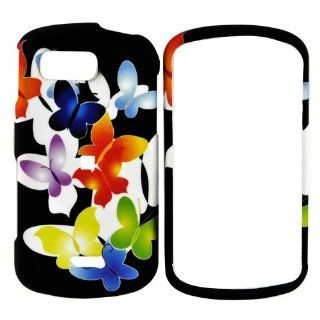 For Samsung Moment Rubberize Hard Case Butterflie Black