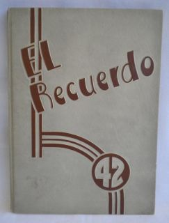 Huntington Park California High School Yearbook 1942 El Recuerdo