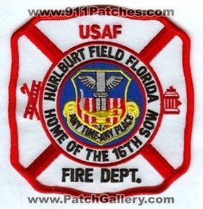 Hurlburt Field Fire Department Dept FD ARFF CFR 16th SOW USAF Patch