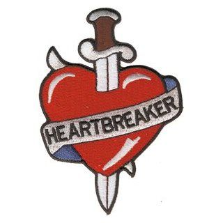 Novelty Iron On   Tattoo Art Heartbreaker Logo Patch