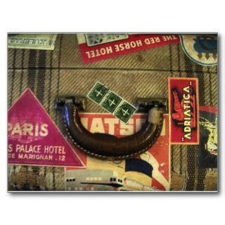 Vintage Suitcase Postcards