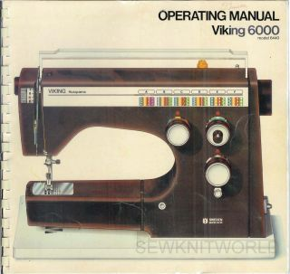 Viking Husqvarna 6440 Sewing Machine Manual CD
