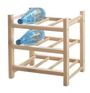 Wine Rack Solid Wood Extendable Holder Bar Storage Hutten New