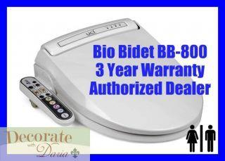 BB 800 ELONGATED Electronic Heated Toilet Seat Jet Wash Hygiene New