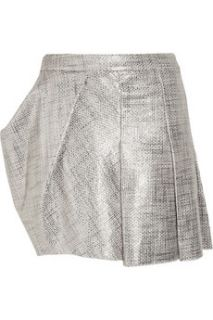 Todd Lynn Yahma metallic cotton bouclé mini skirt