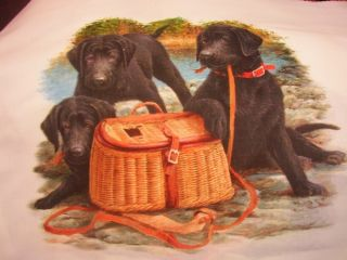 Labrador Retriever Black Lab Dog Fabric Throw Pillow