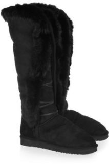 Mou Foxy rabbit trimmed shearling boots    65% Off