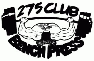 275 Club Bench Press    275 Club Workout Shirt    T Shirts