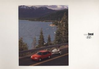 1994 Hyundai Excel Brochure Book GS and GL Models