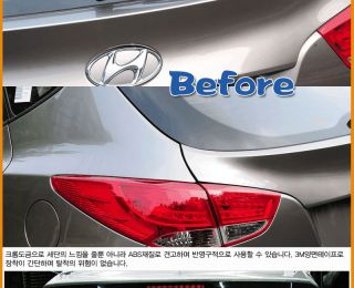 For 2010 2012 Hyundai Tucson IX35 Chrome Rear Trunk Trim Moulding