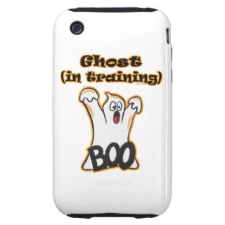 Cute Halloween Holiday Boo Ghost in Training iPhone 3 Tough Case
