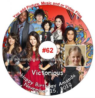 iCarly & Victorious Birthday Invitation Thank You Card Sticker Candy