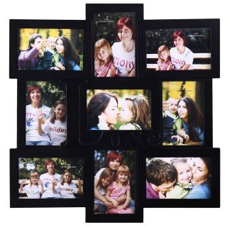 Opening Love Black Wood Collage Photo Picture Frame Home Wall Art