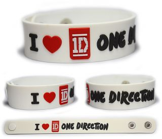 Love One Direction Rubber Bracelet Wristband Up All Night 1D