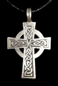 Celtic Knot Cross of Iona Pendant Amulet Necklace Jewelry