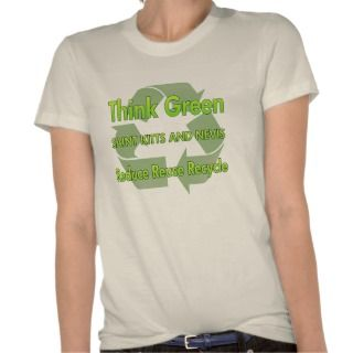 Think Green Saint Kitts And Nevis T Shirts