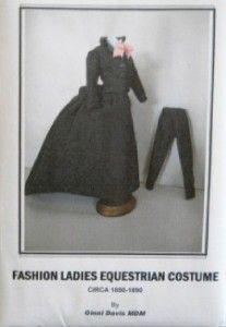 Ladies Equesterian Costume Pattern Circa 1880 by Ginni Davis