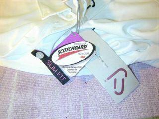 New Ian Poulter Jpdesign White Polo Golf Shirt Scotchgard Sz XL Slim