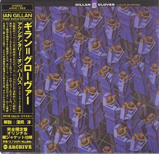 Ian Gillan Glover Accidentally on Purpose CD Mini LP OBI