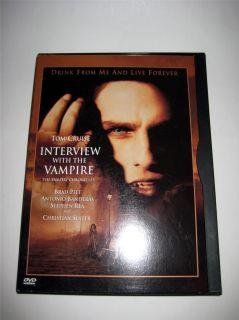 Interview with The Vampire DVD Movie Tom Cruise Brad Pitt Anne Rice