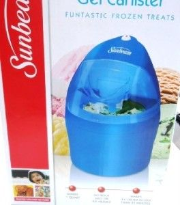 Blue Sunbeam 1 Qt Ice Cream Maker Recipes Storage Great Gift for Dad