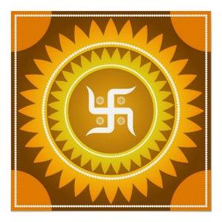 Spiritual Swastika Design Posters