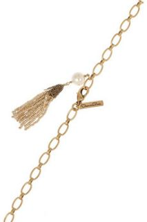 Oscar de la Renta 24 karat gold plated multi strand necklace   65% Off