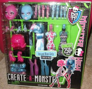 MONSTER HIGH NEW ICE AND BLOB GIRLS Create A Monster Starter Pack Just