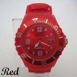 New Ice Style Silicone Jelly Sport Wrist Watch