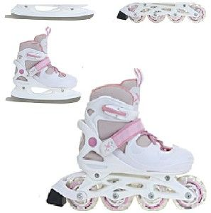 INLINE SKATES ROLLER ICE SKATING BOOTS TRANSFORMER ADJUSTABLE SHOES