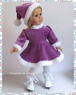Ice Skating 2pc Skating Outfit Hat 4 American Girl Doll Clothes 910 P