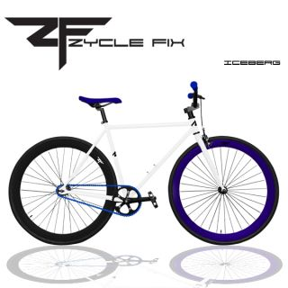 Bike Fixie Bike Road Bicycle 48 52 56 cm w Deep Rims Iceberg