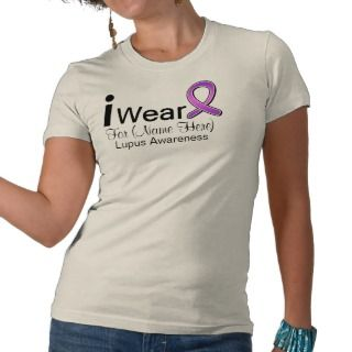 Customizable I Wear a Lupus Ribbon Tshirts